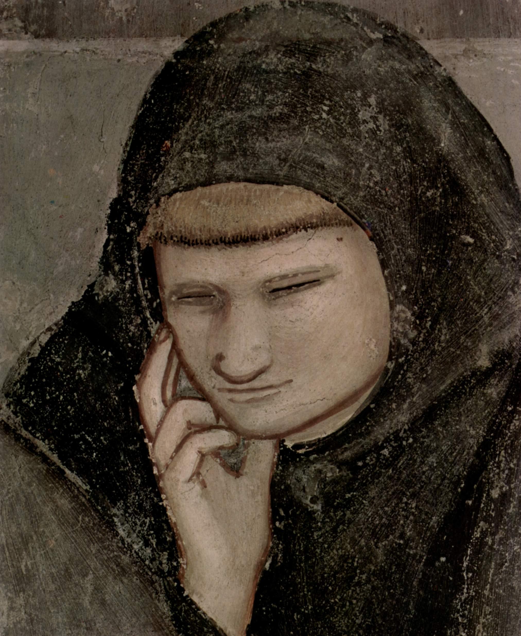 Цикл фресок из жизни св. Франциска, капелла Барди [09]. Санта Кроче во Флоренции. Явление фра Август, Джотто ди Бондоне