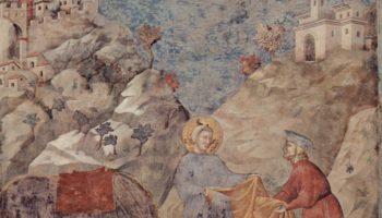 Святой Франциск, отдающий свою мантию бедному человеку. Легенда о святом Франциске
