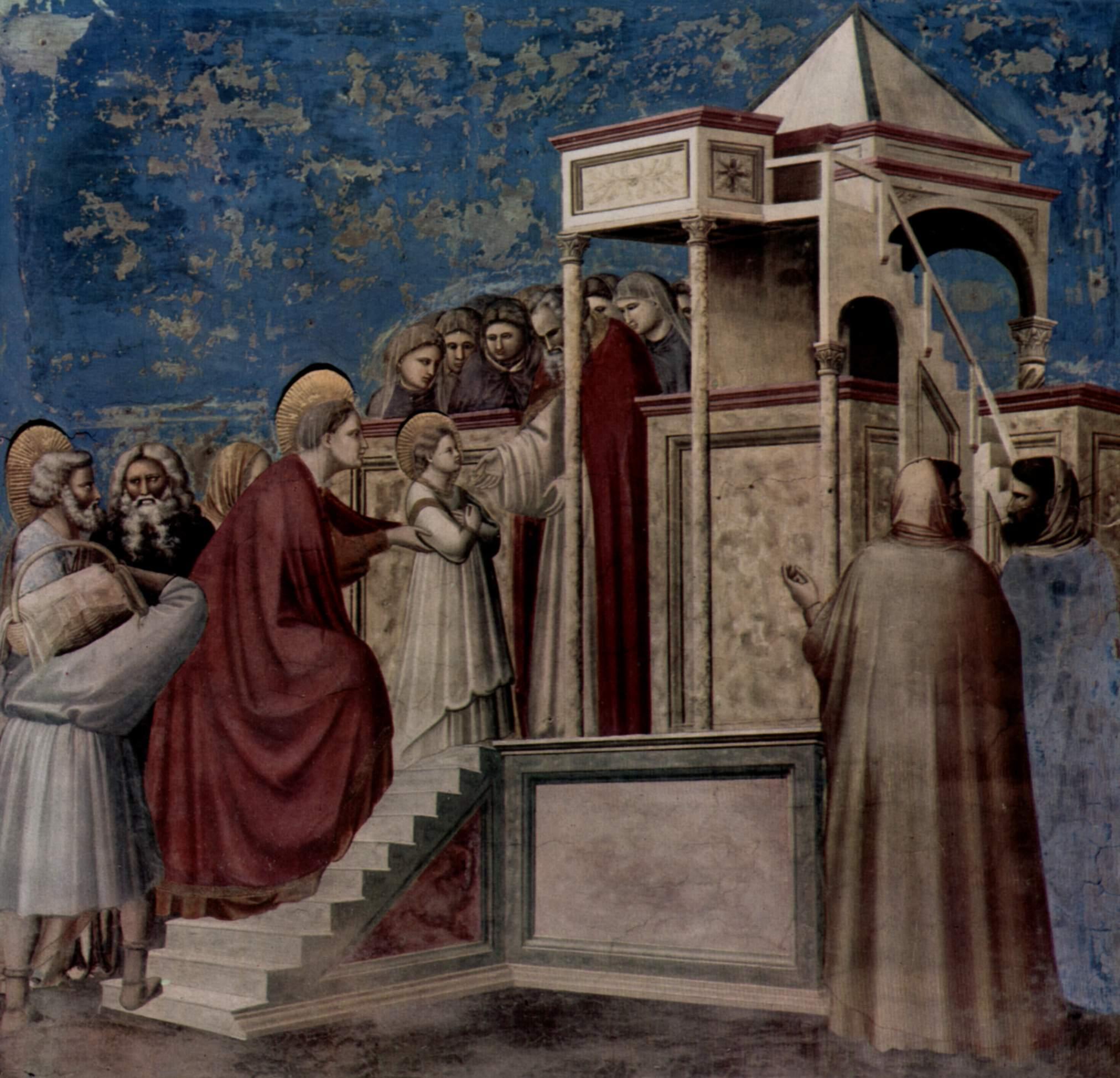 Цикл фресок капеллы Арена [04] в Падуе (капелла Скровеньи). Рождество Богородицы, Джотто ди Бондоне