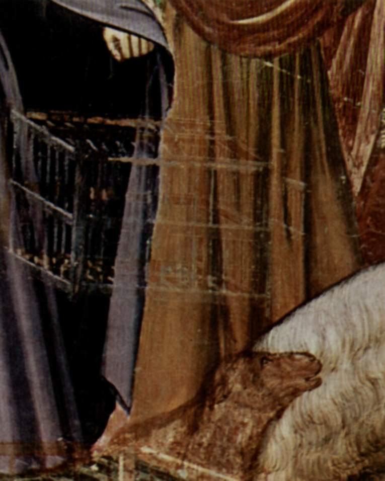 Цикл фресок капеллы Арена [19] в Падуе (капелла Скровеньи). Изгнание торгующих из храма. Фрагмент. П, Джотто ди Бондоне