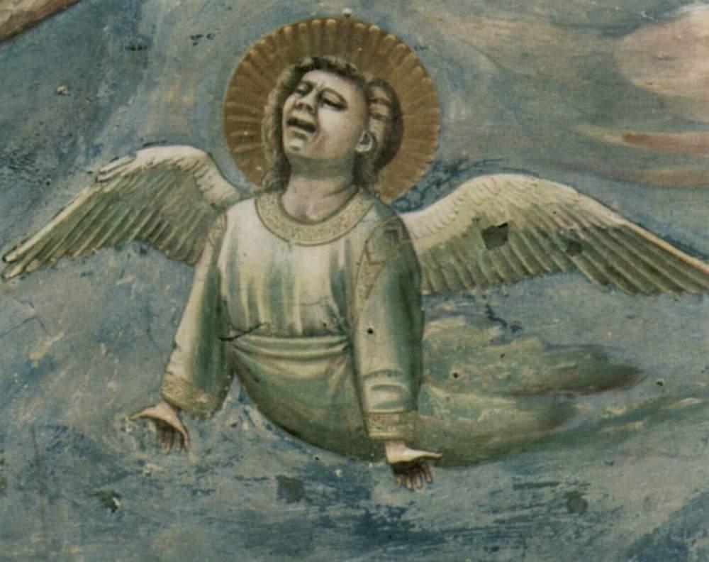 Цикл фресок капеллы Арена [25] в Падуе (капелла Скровеньи). Оплакивание Христа. Фрагмент. Скорбящий, Джотто ди Бондоне