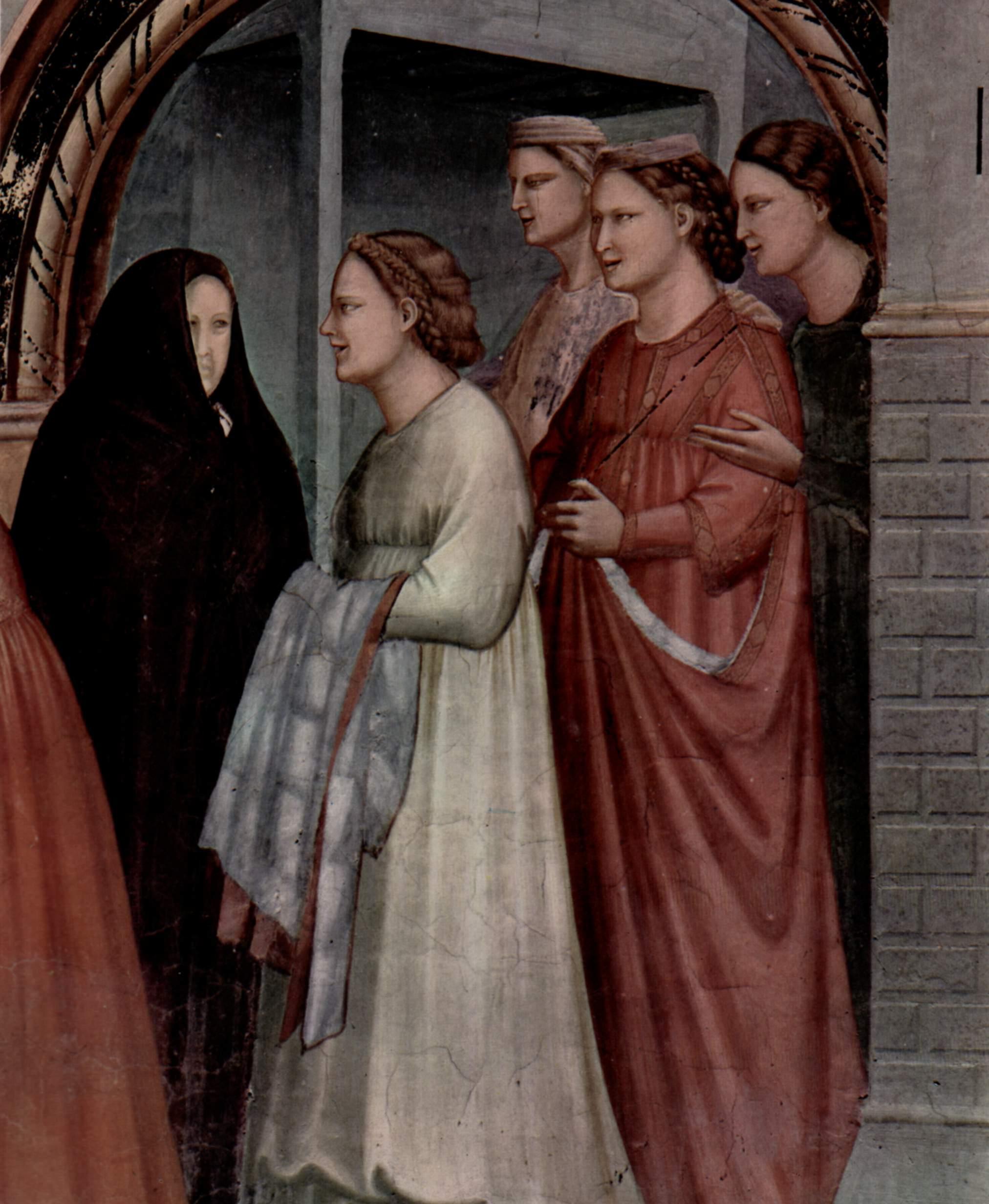Цикл фресок капеллы Арена [07] в Падуе (капелла Скровеньи). Благовещение. Фрагмент, Джотто ди Бондоне