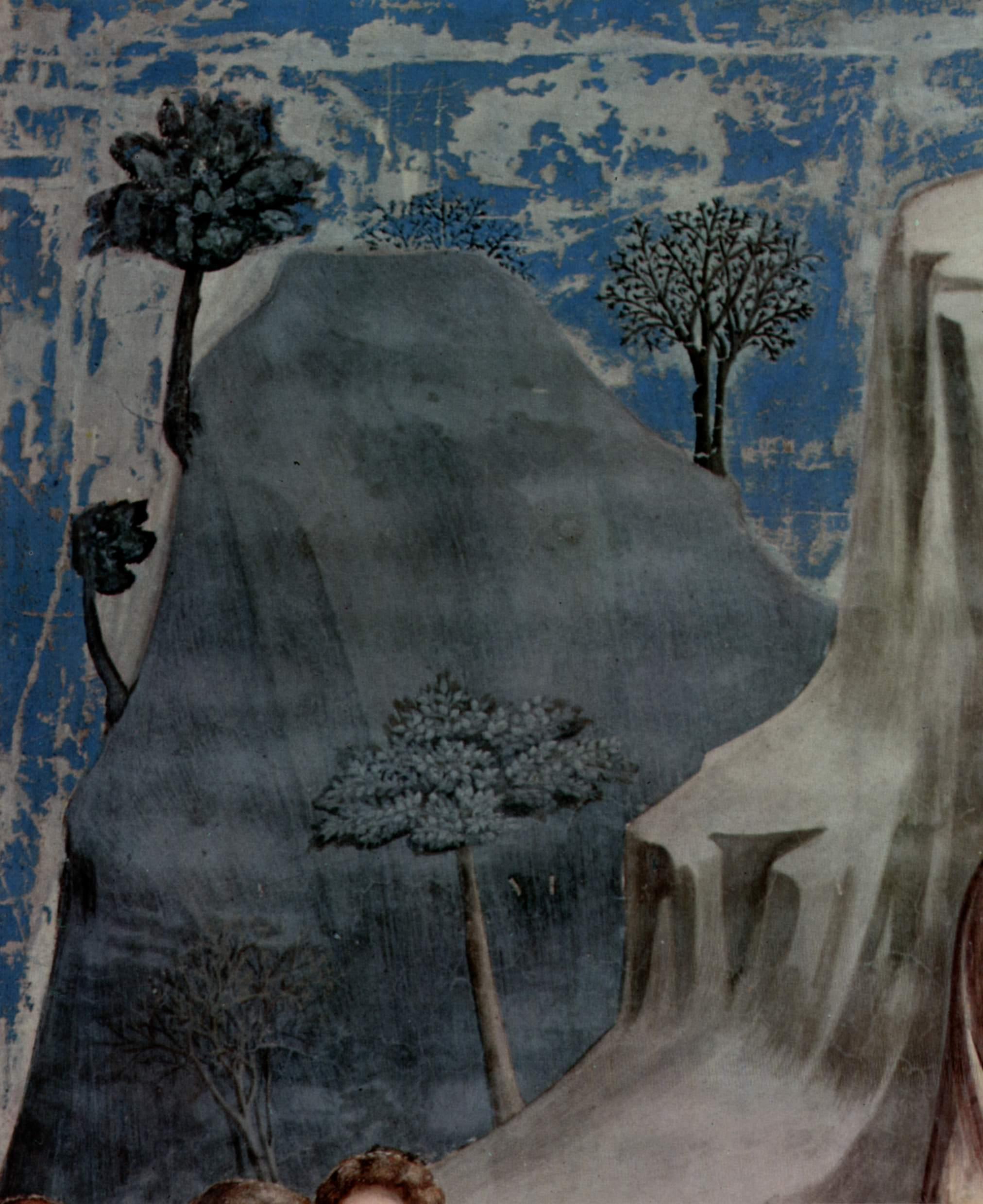 Цикл фресок капеллы Арена [13] в Падуе (капелла Скровеньи). Бегство в Египет, Джотто ди Бондоне