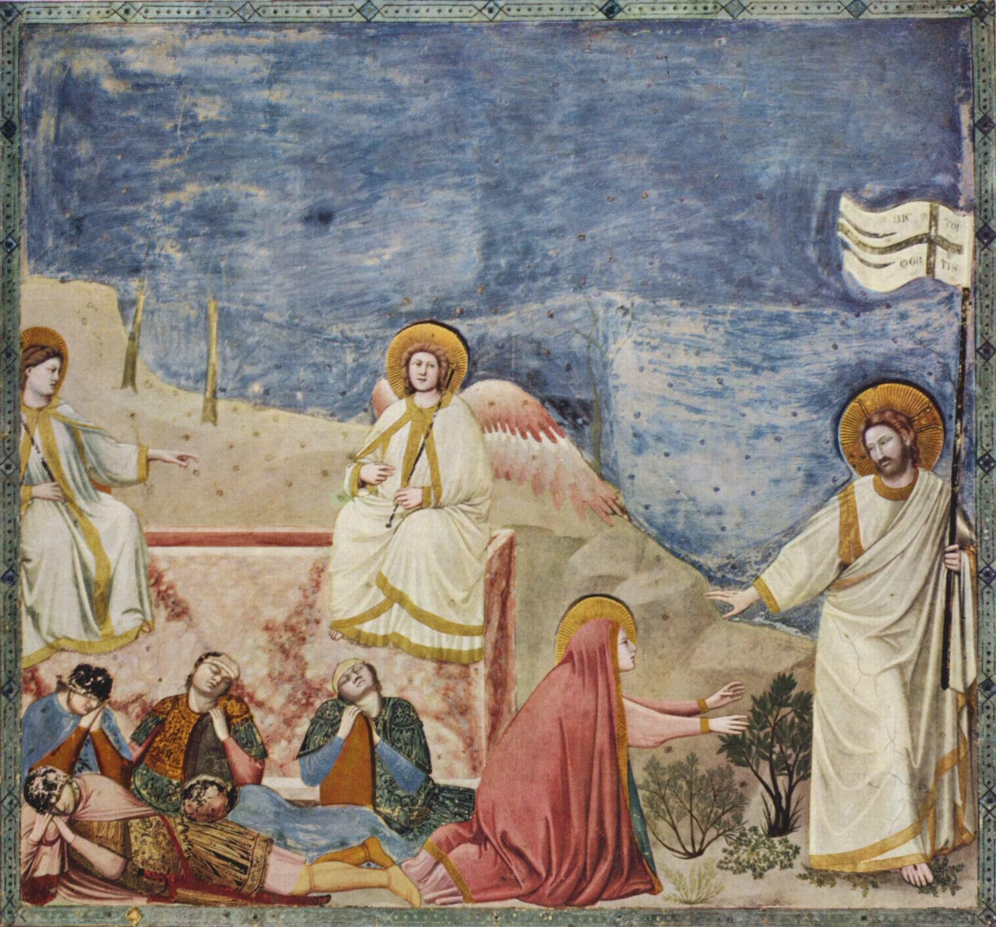 Цикл фресок капеллы Арена [231] в Падуе (капелла Скровеньи). Оплакивание Христа, Джотто ди Бондоне