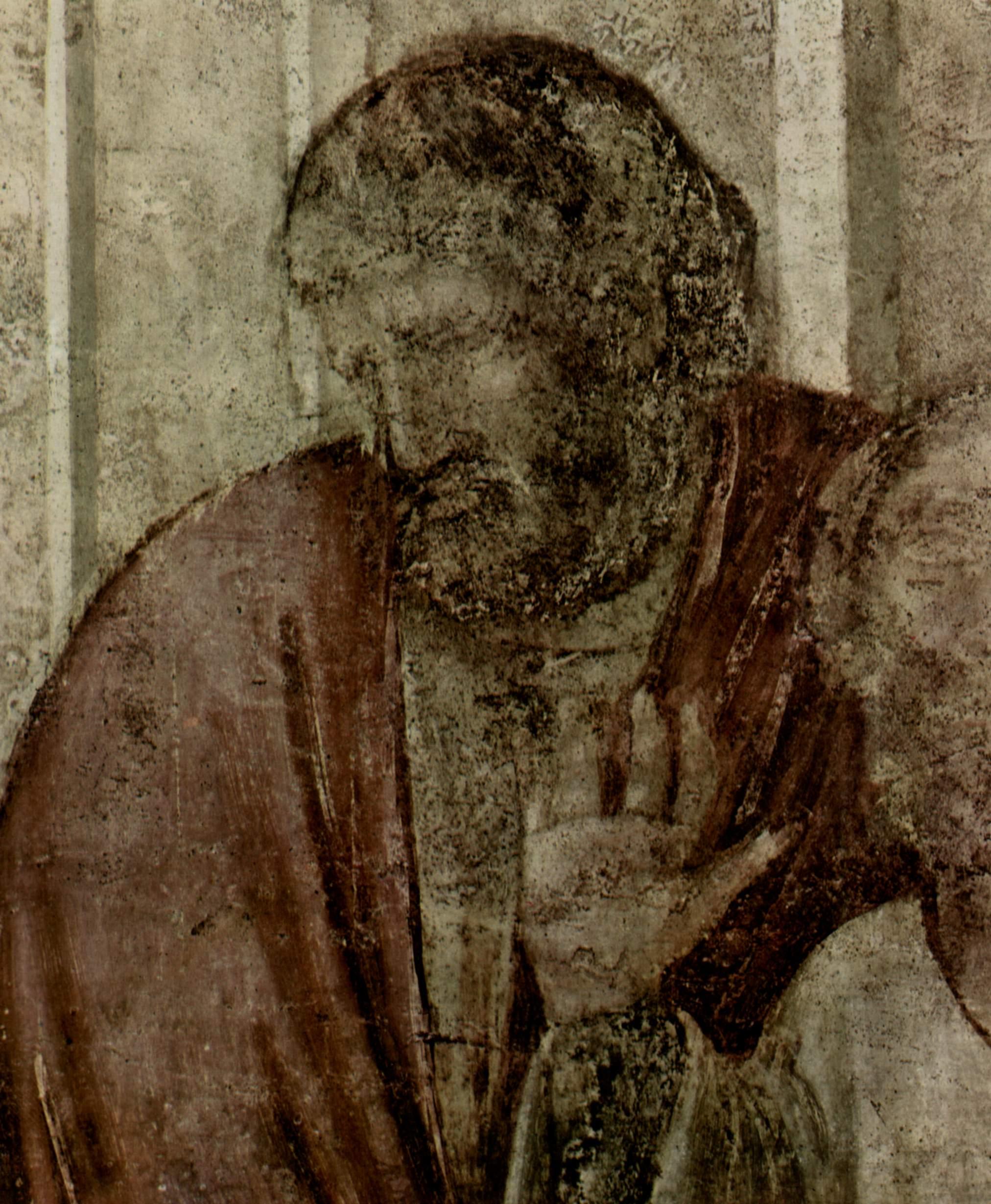 Цикл фресок капеллы Перуцци [06]. Санта Кроче во Флоренции. Евангелист Иоанн воскрешает Друзиану. Фр, Джотто ди Бондоне