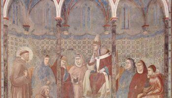 Святой Франциск проповедует перед Гонорием ІІІ. Легенда о святом Франциске