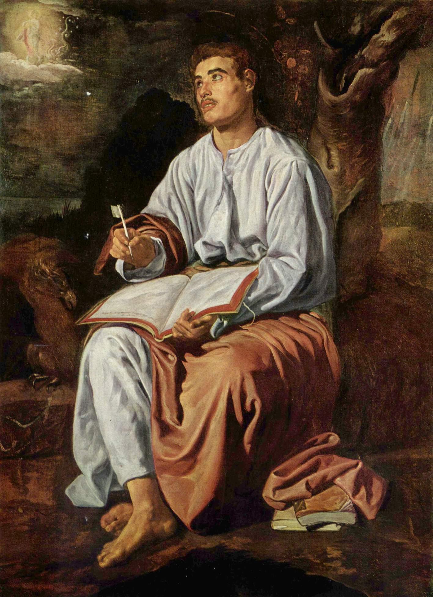 Евангелист Иоанн на Патмосе, Диего Веласкес