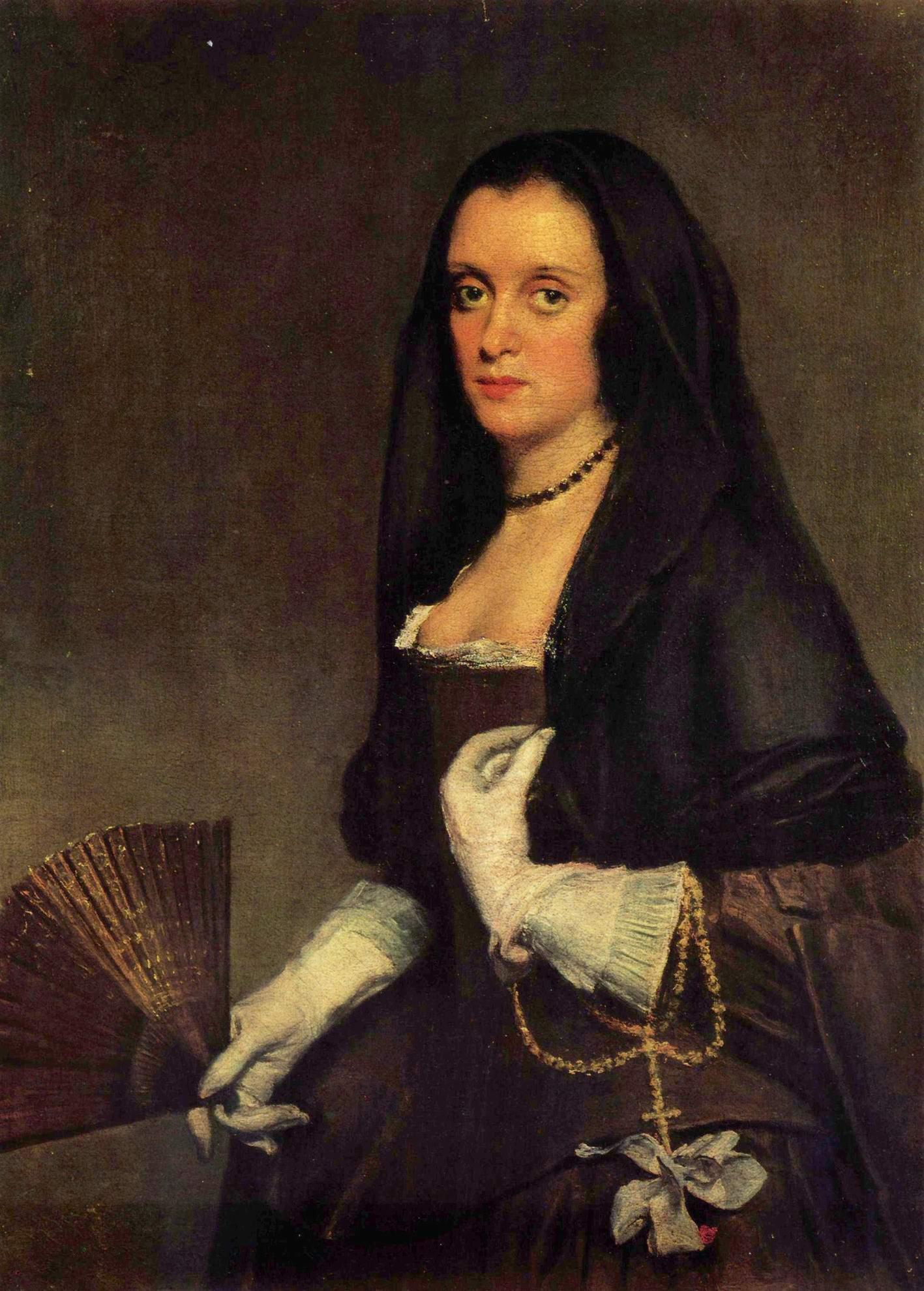 Портрет дамы с веером, Диего Веласкес