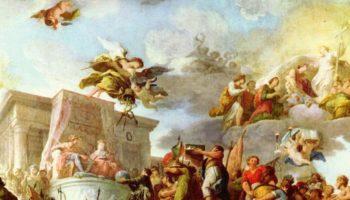 Христофор Колумб представляет их католическим величествам Новый Свет