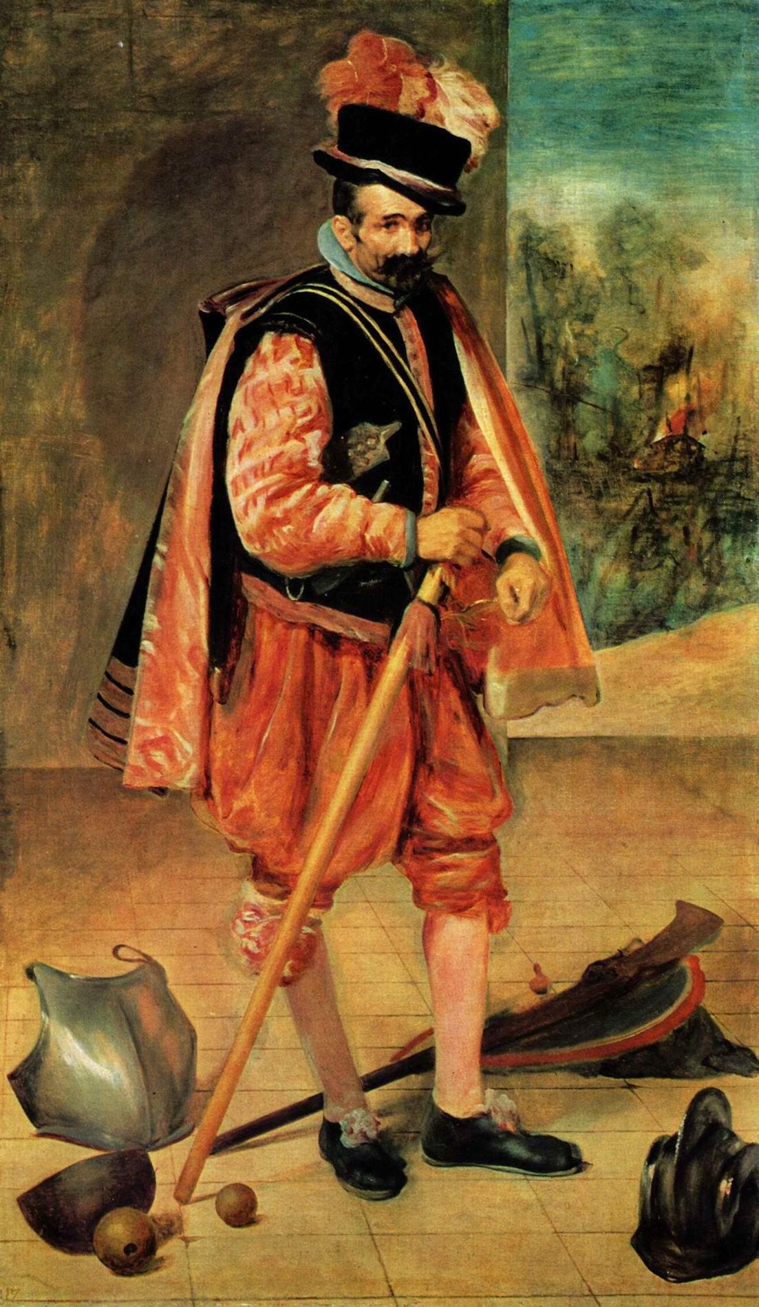 Портрет придворного шута по прозвищу, Диего Веласкес