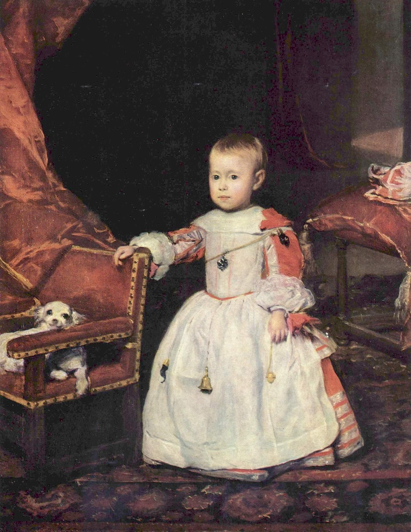Портрет инфанта Филиппа Проспера, Диего Веласкес