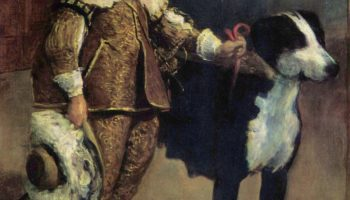 Карлик с собакой (по Веласкесу)