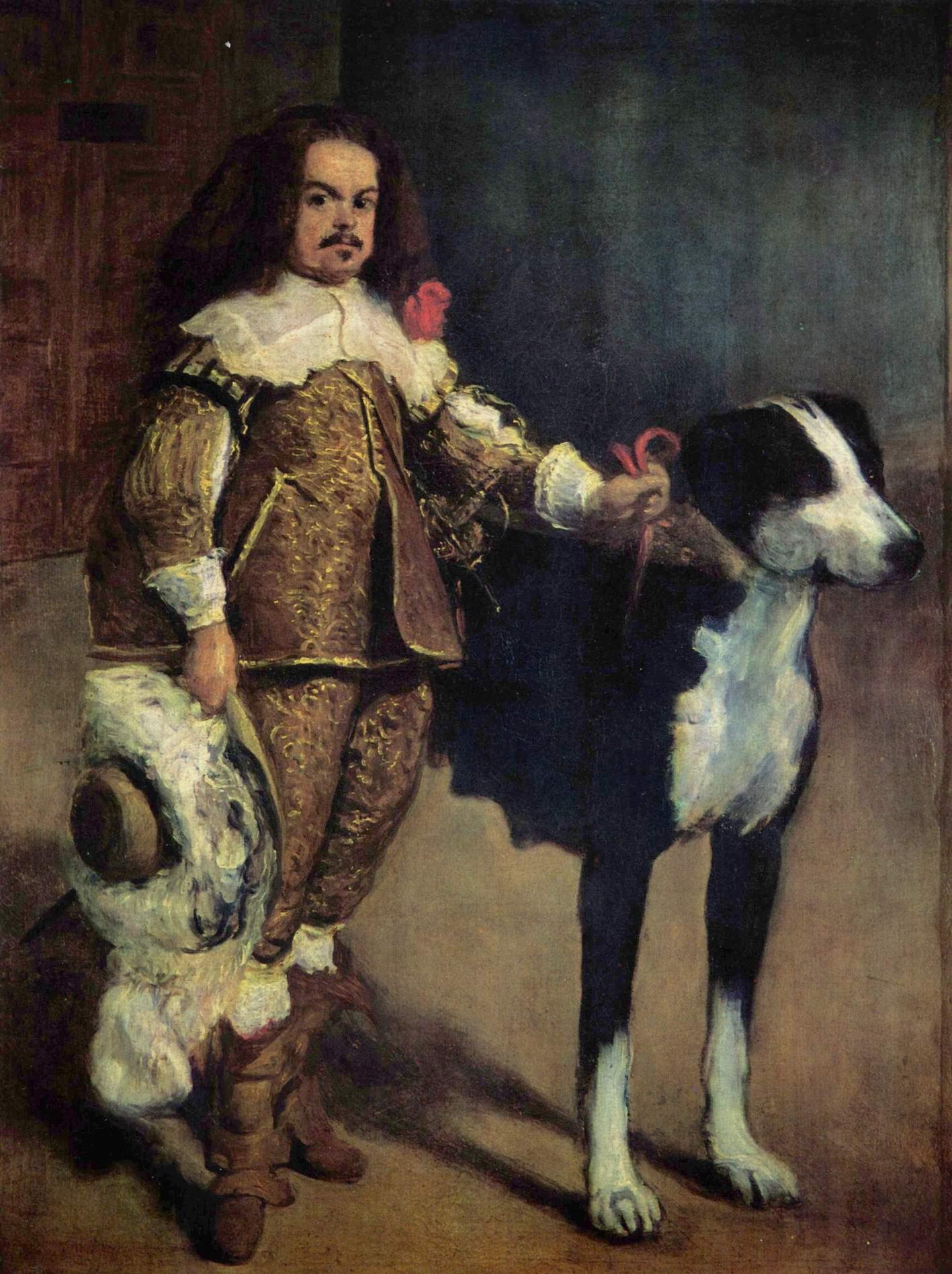 Придворный карлик с собакой, Диего Веласкес