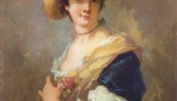 Портрет дамы в соломенной шляпе