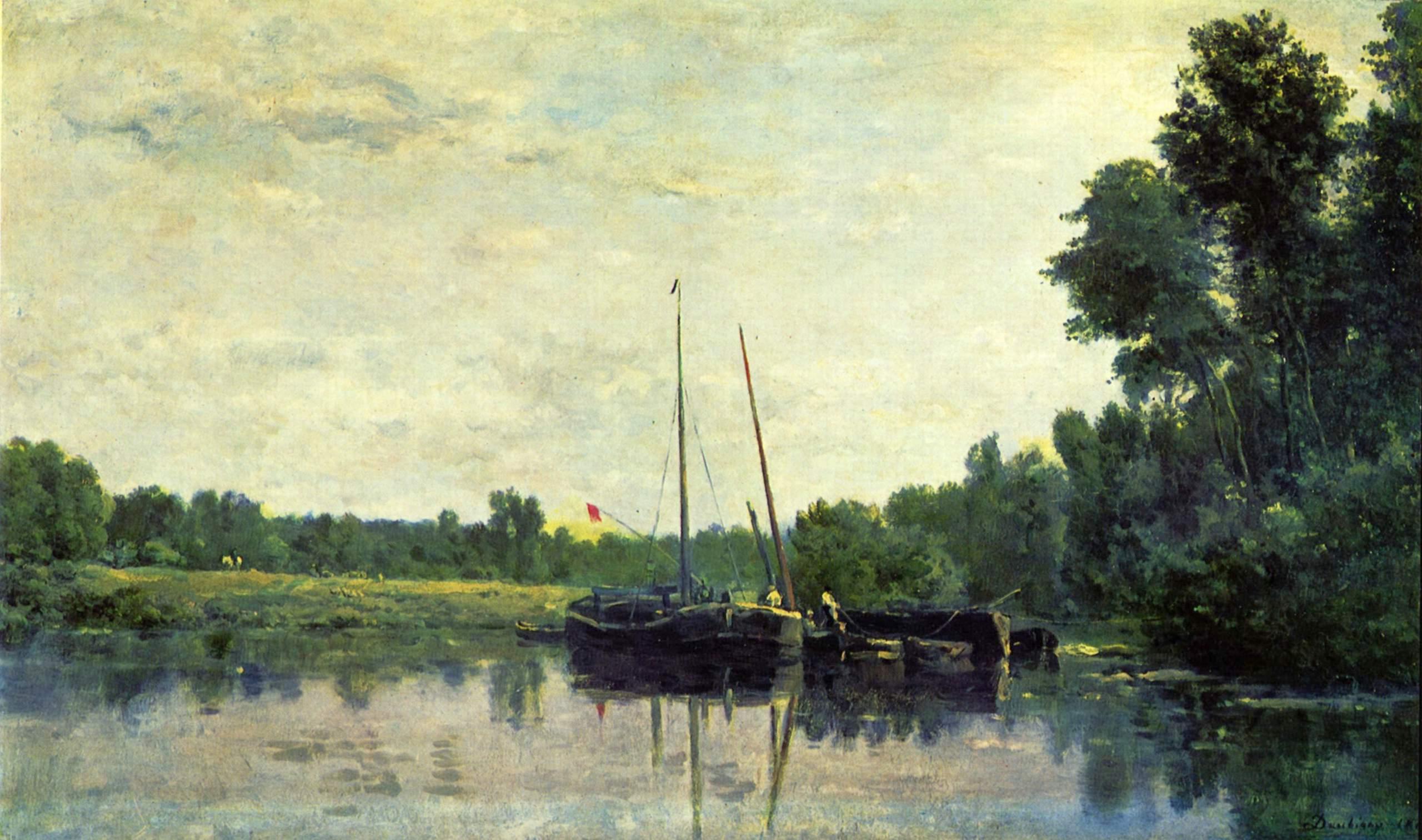 Лодки на Уазе, Добиньи Шарль-Франсуа