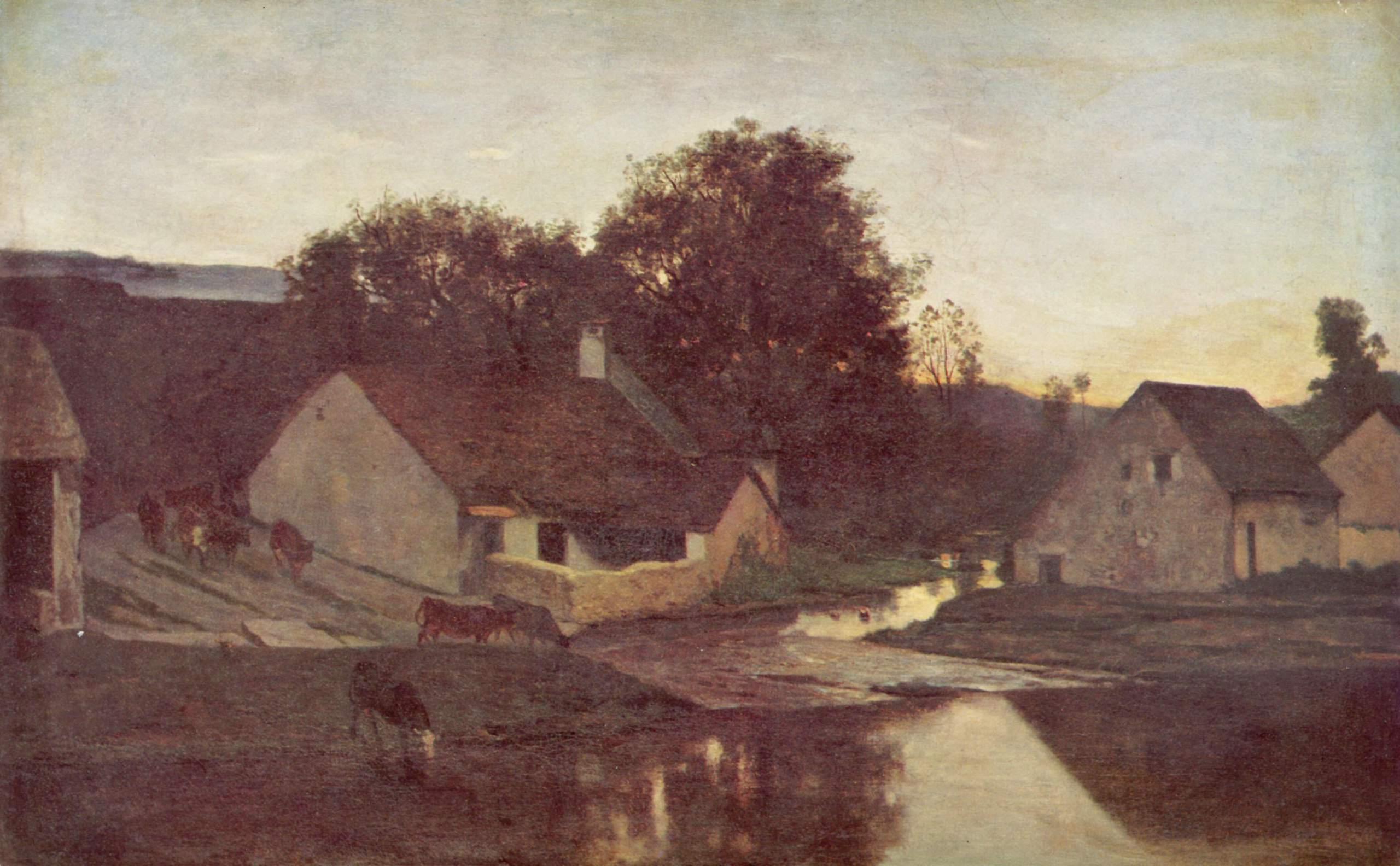 Вечер, Добиньи Шарль-Франсуа