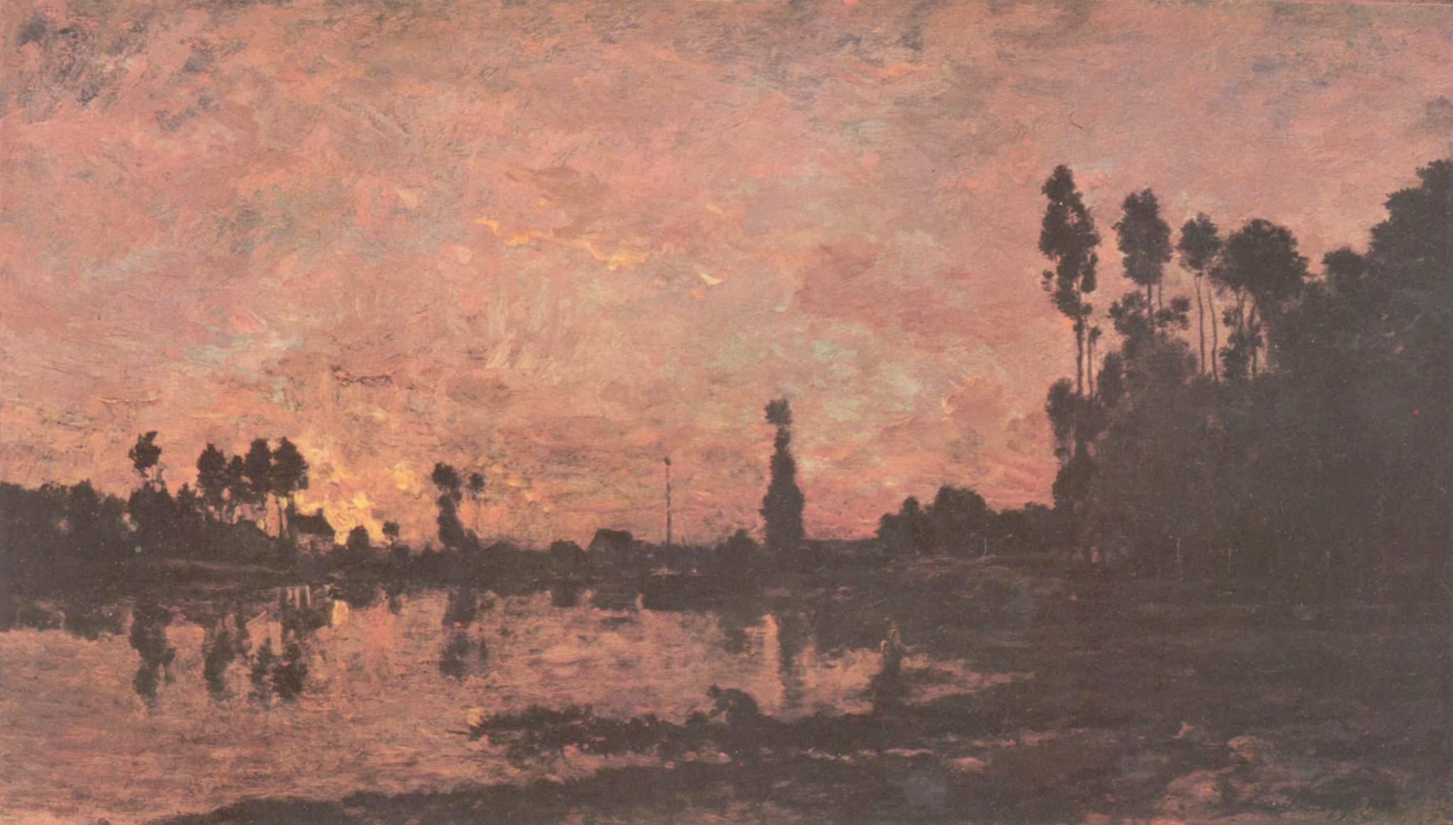 Закат на Уазе, Добиньи Шарль-Франсуа