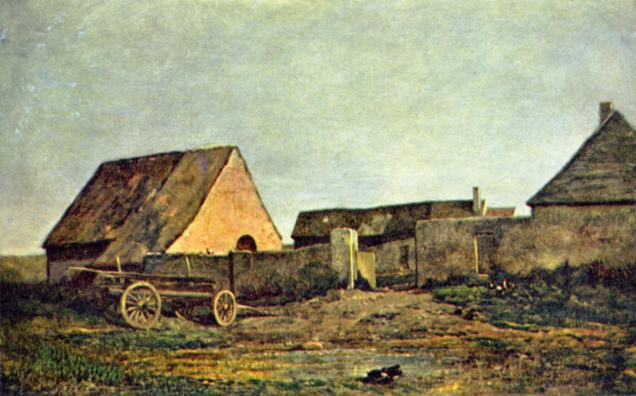 Крестьянский двор, Добиньи Шарль-Франсуа