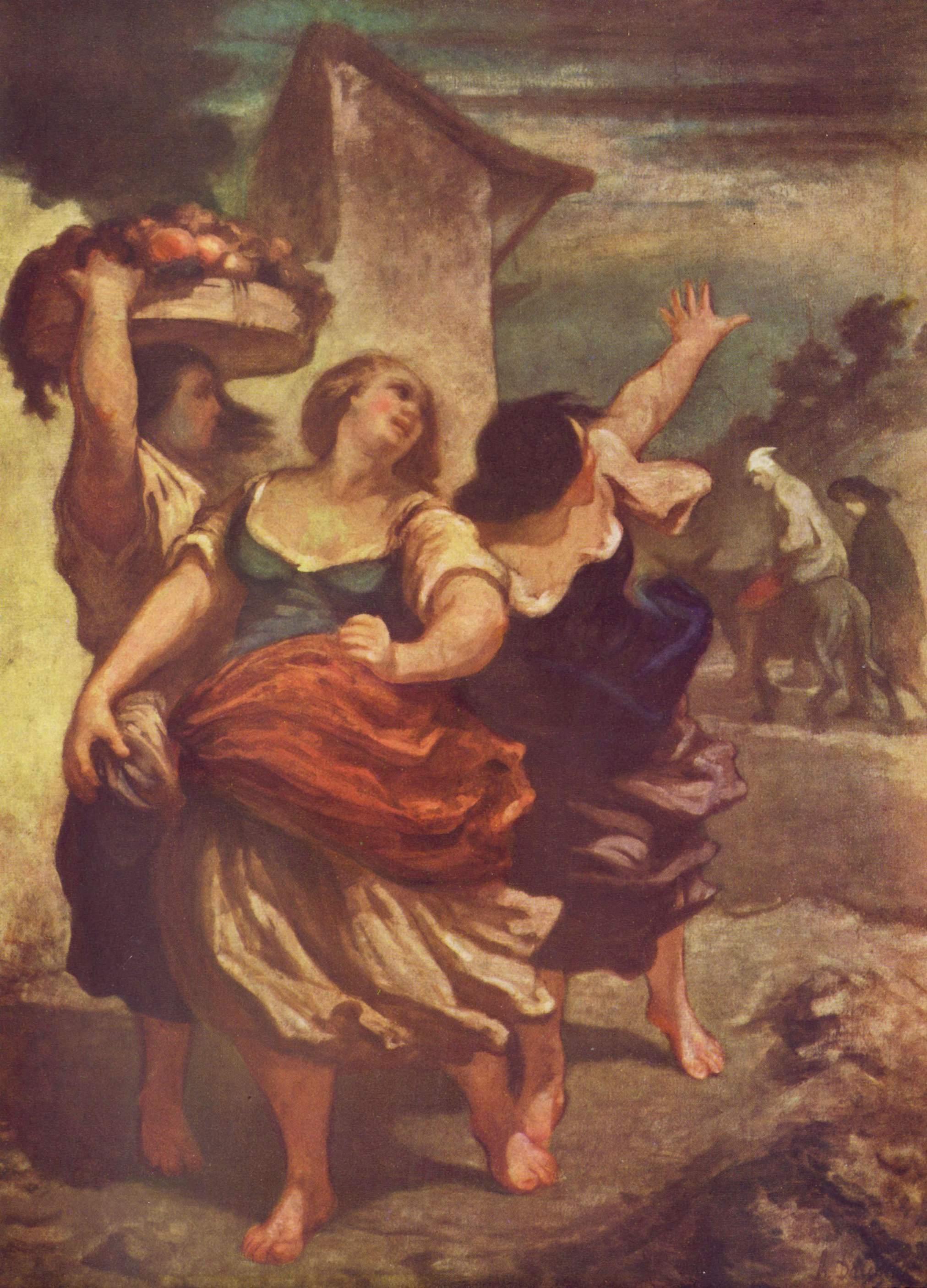 Мельник, его сын и ослик, Домье Оноре