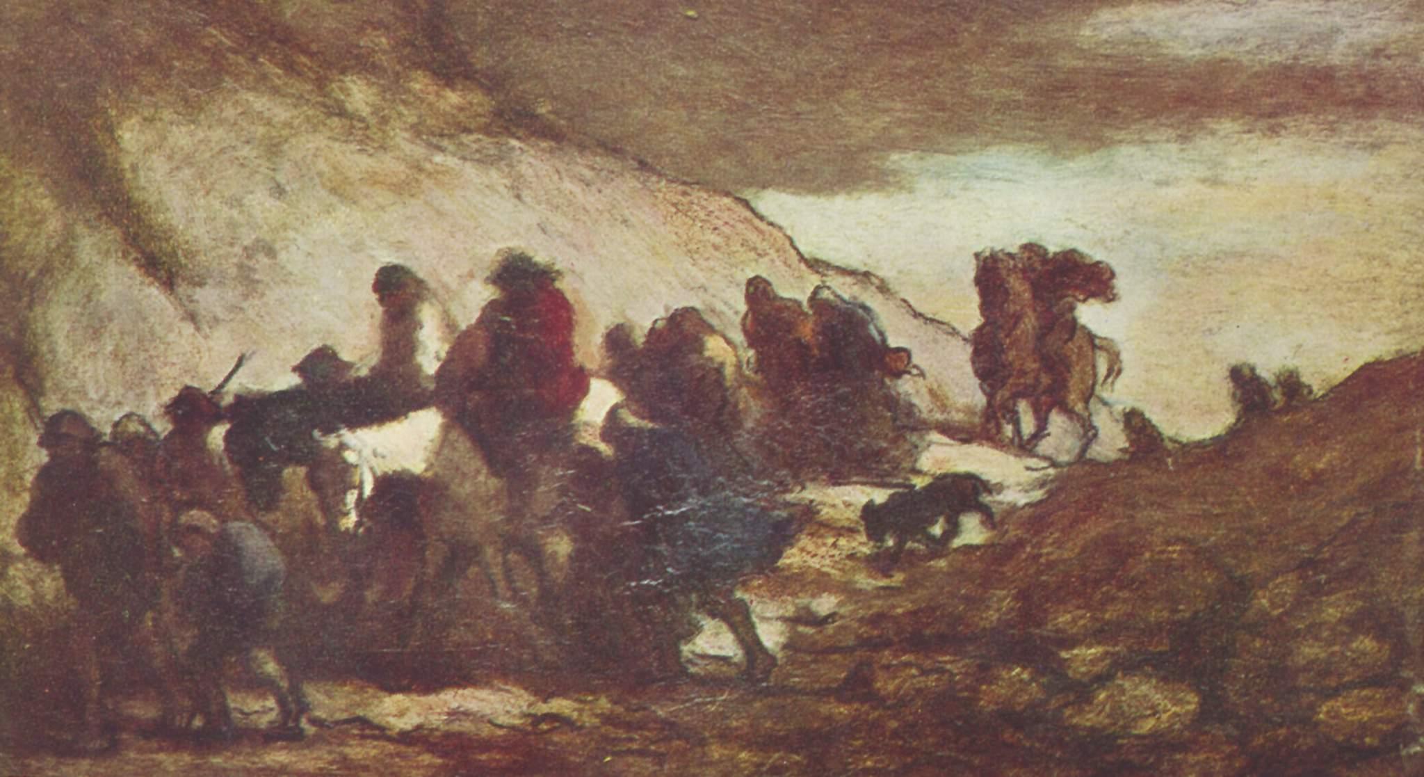 Беженцы, Домье Оноре