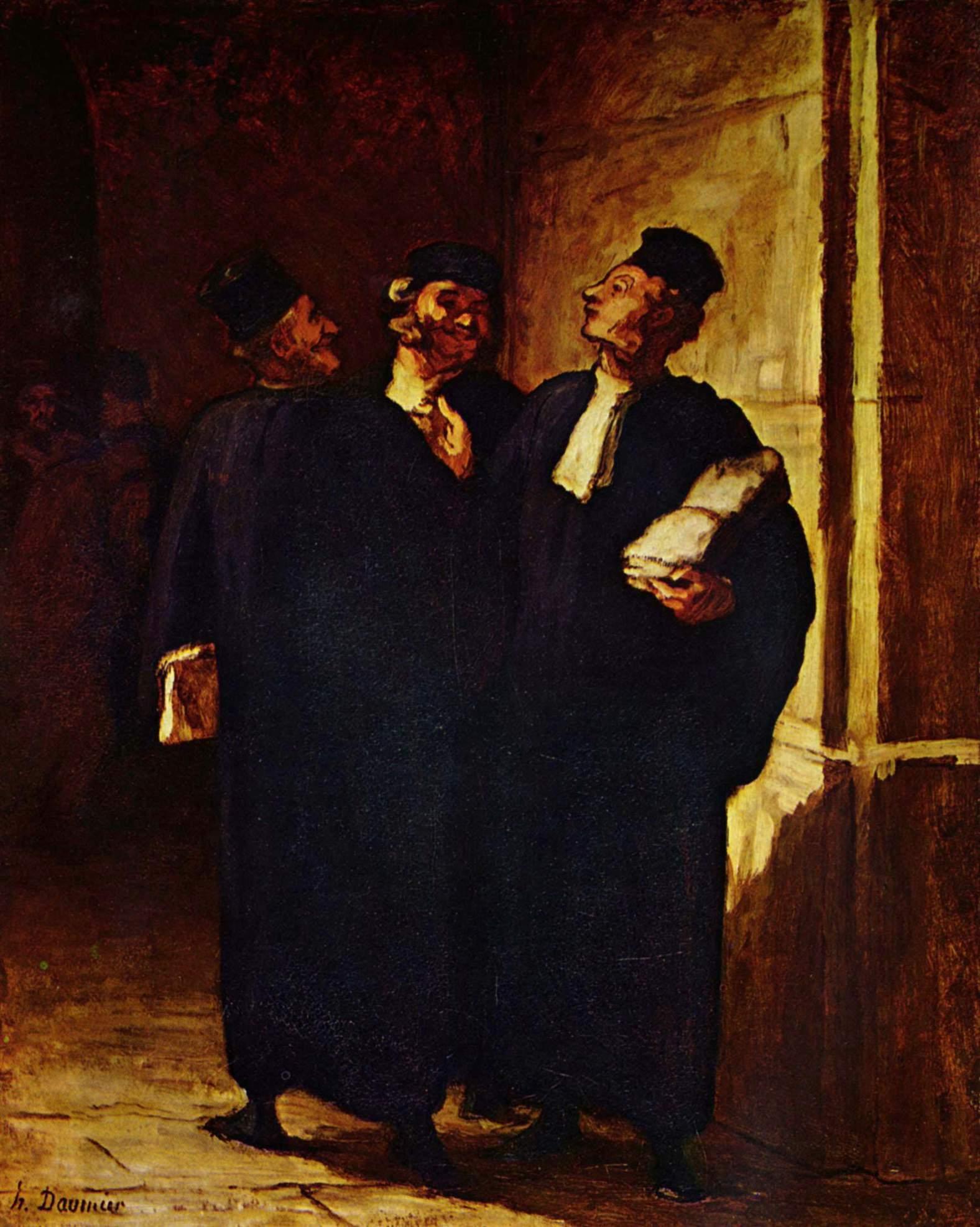 Три адвоката за разговором, Домье Оноре