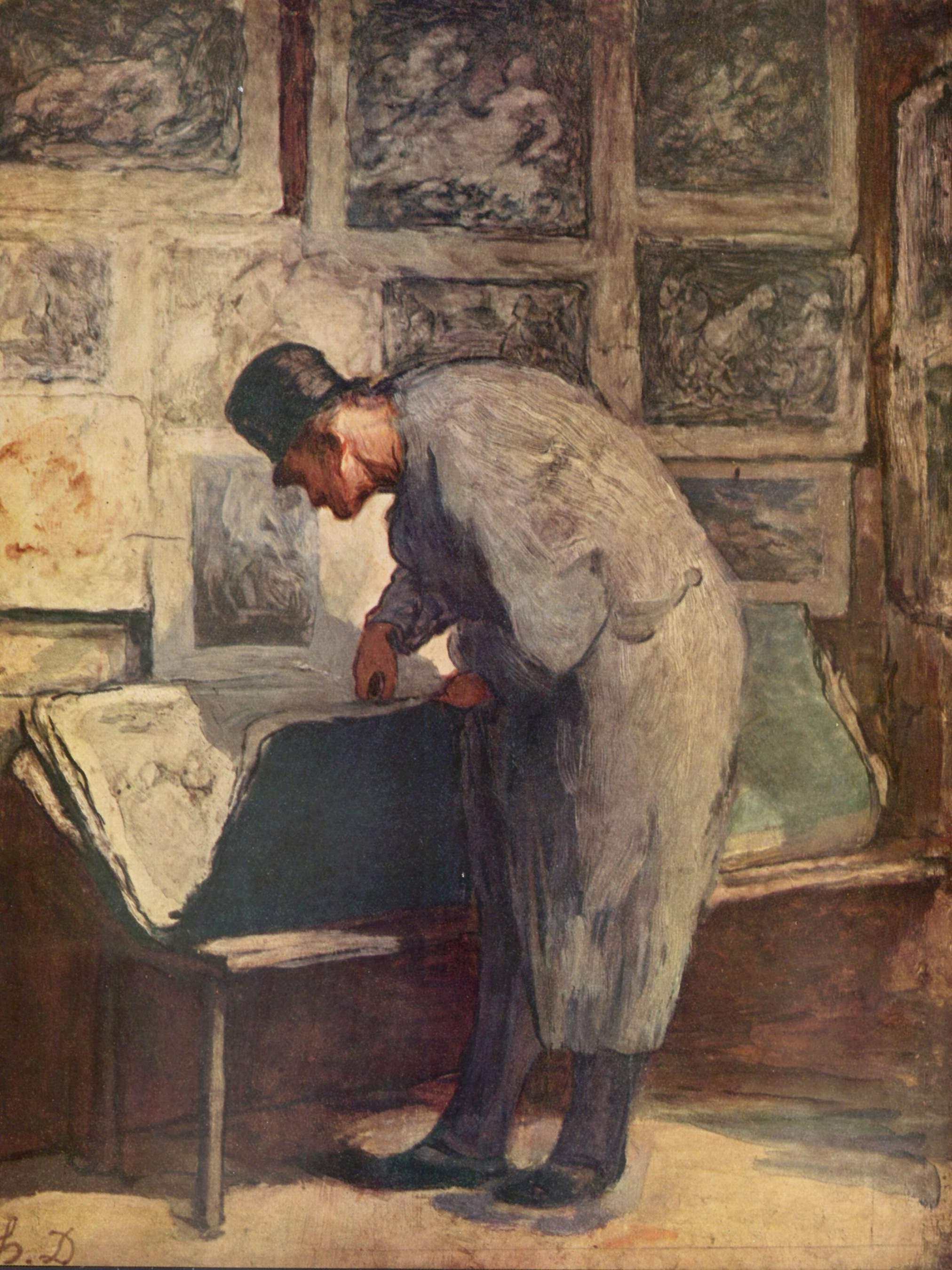 Любитель гравюр, Домье Оноре