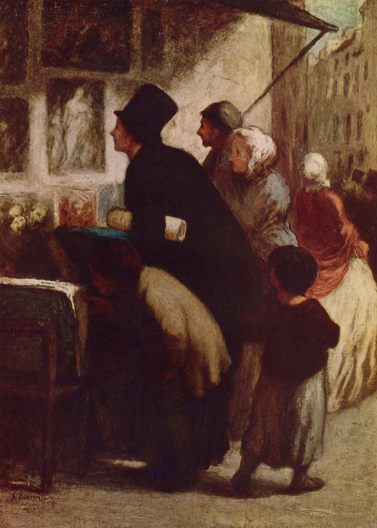 У торговца гравюрами, Домье Оноре