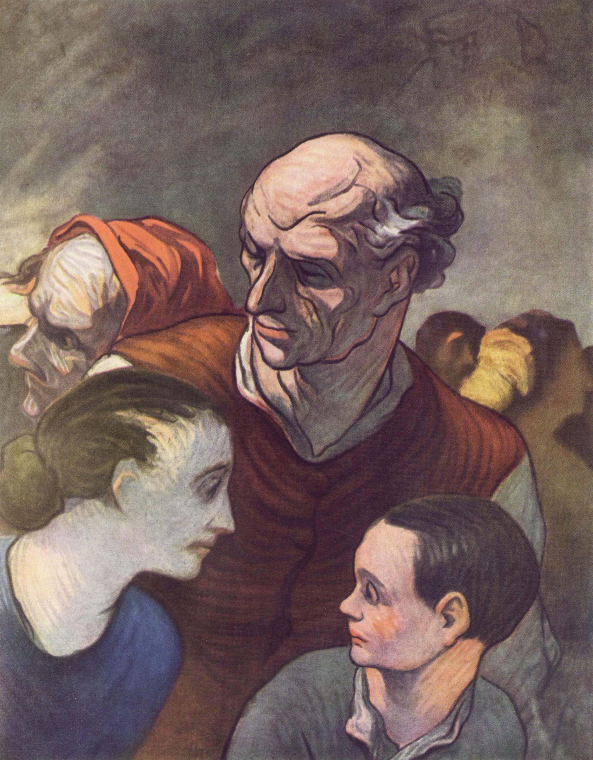 Семья на баррикаде, Домье Оноре