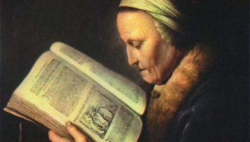 Старая женщина за книгой (Мать Рембрандта)