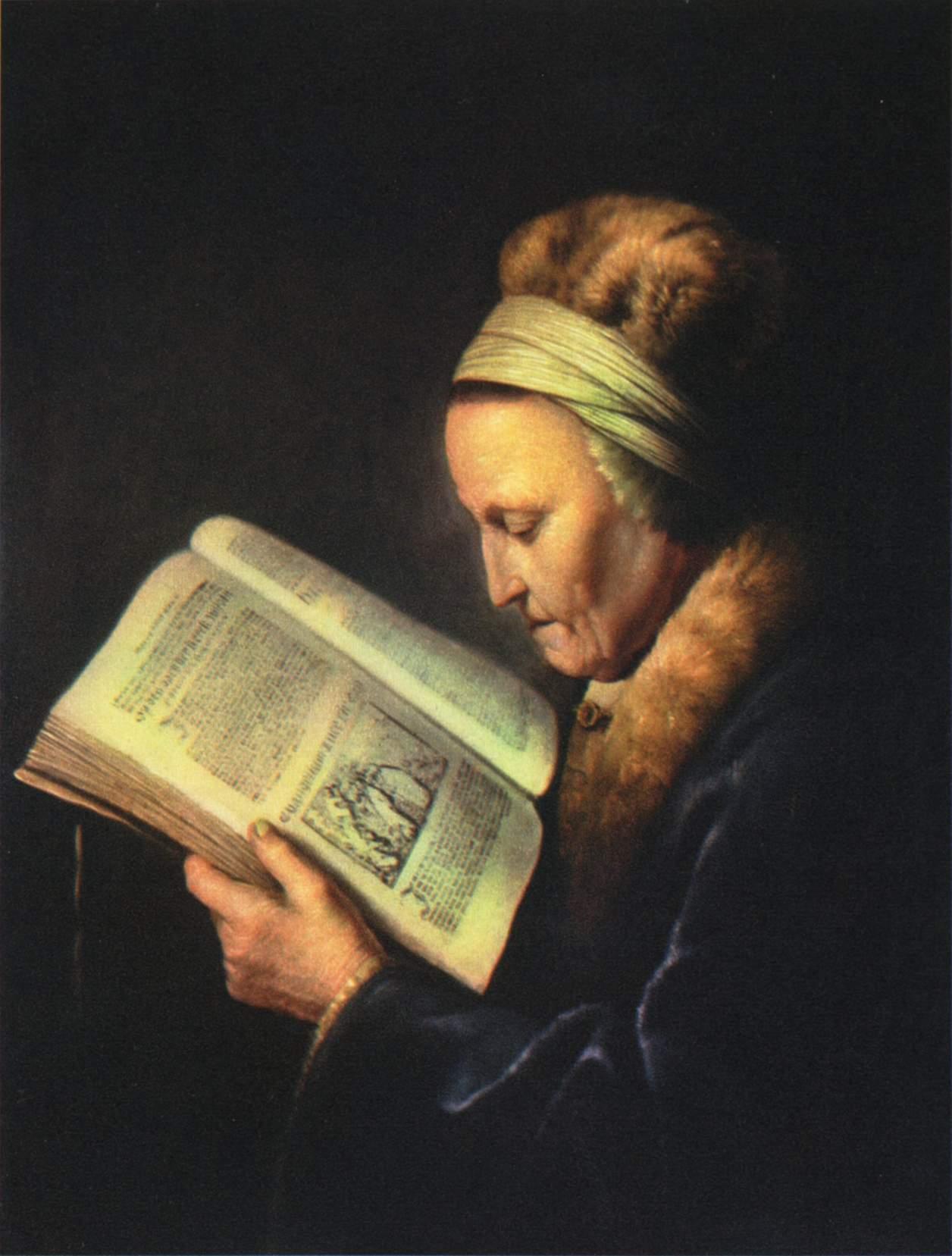 Пожилая женщина за чтением. Портрет матери Рембрандта, Доу Герард