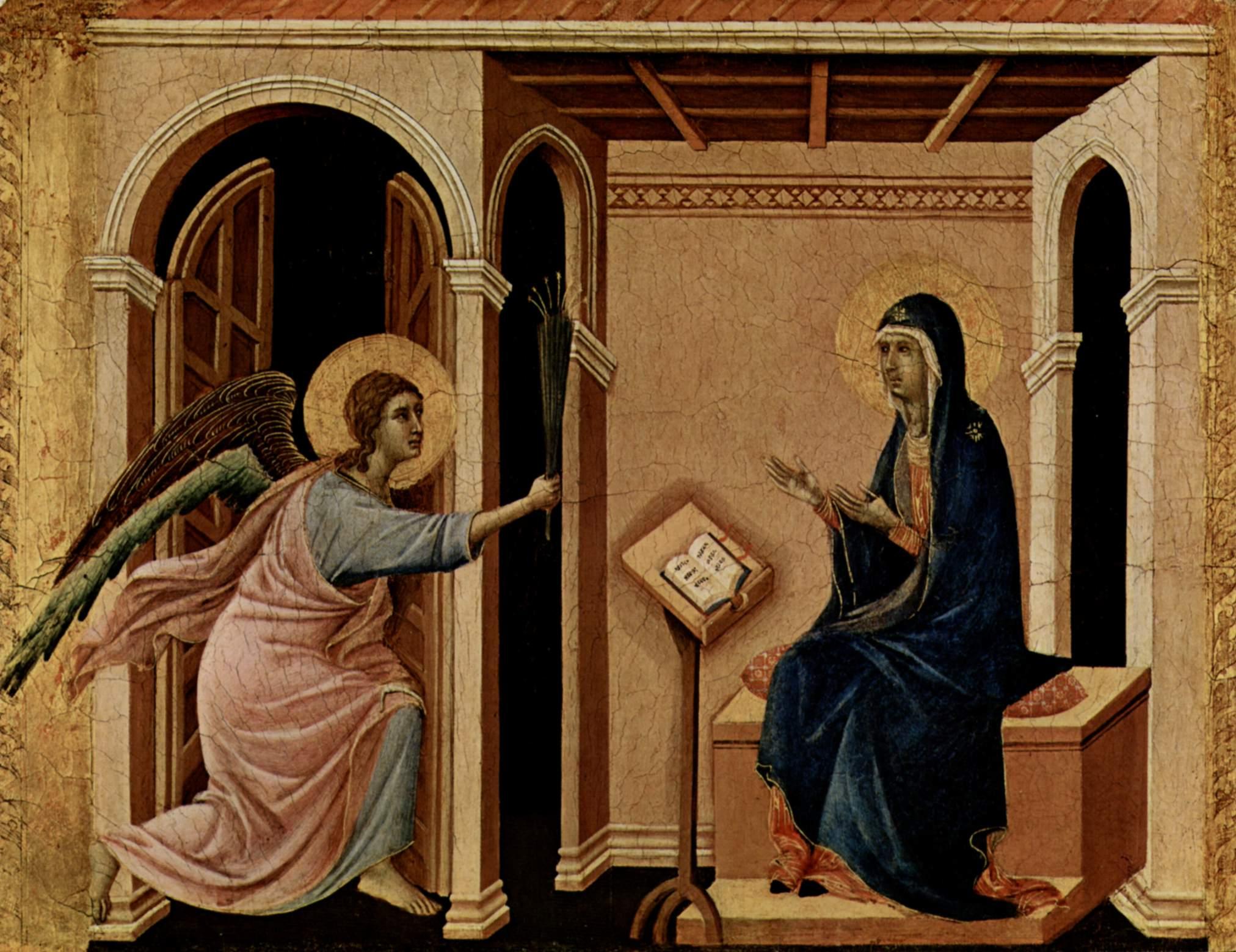 Маэста, алтарь сиенского кафедрального собора, передняя сторона, пределла со сценами из детства Иису, Дуччо ди Буонинсенья