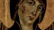 Мадонна Ручеллаи, Мадонна на престоле с ангелом. Деталь  голова Мадонны