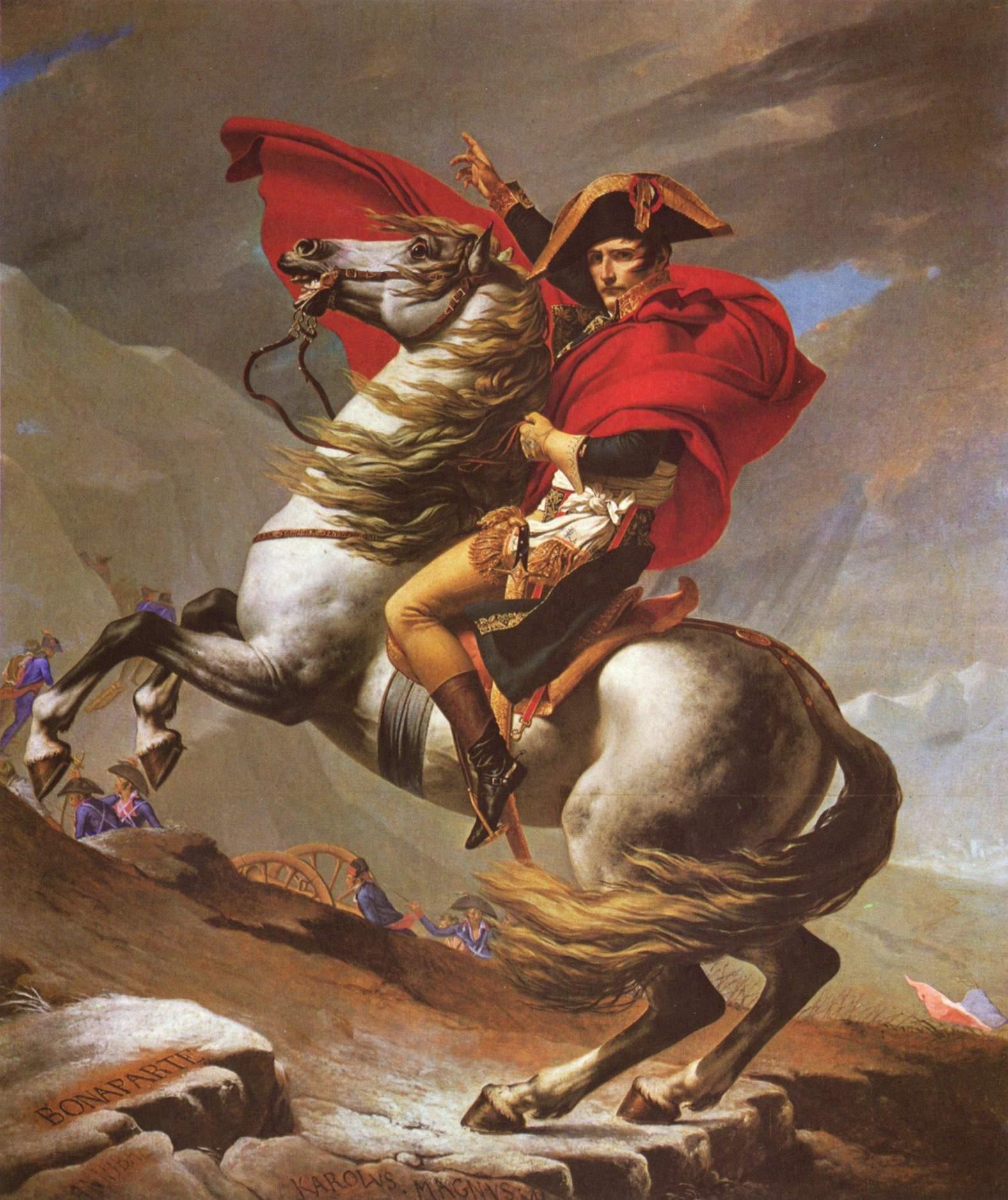 Наполеон на перевале Сен-Бернард, Жак - Луи Давид