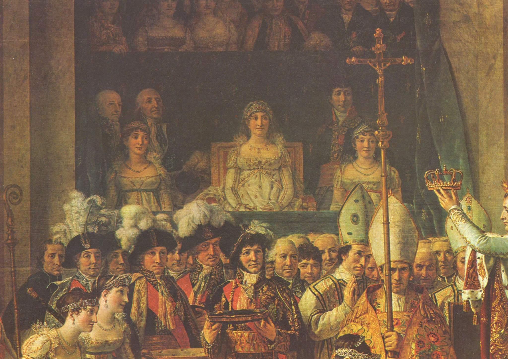 Коронация Наполеона I и императрицы Жозефины. Фрагмент, Жак - Луи Давид