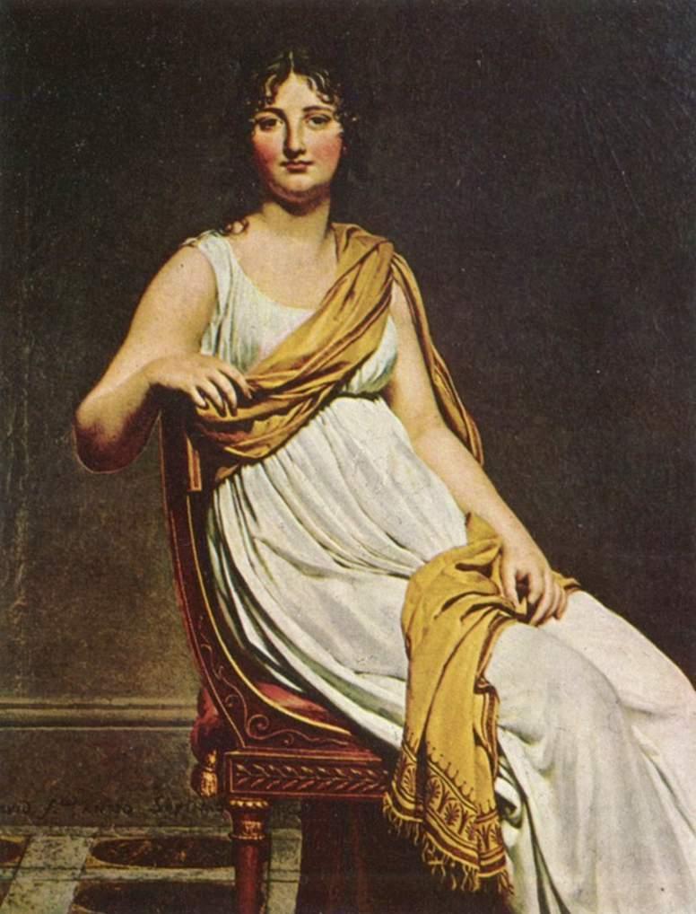 Мадам де Вернинак - сестра художника Эжена Делакруа, Жак - Луи Давид