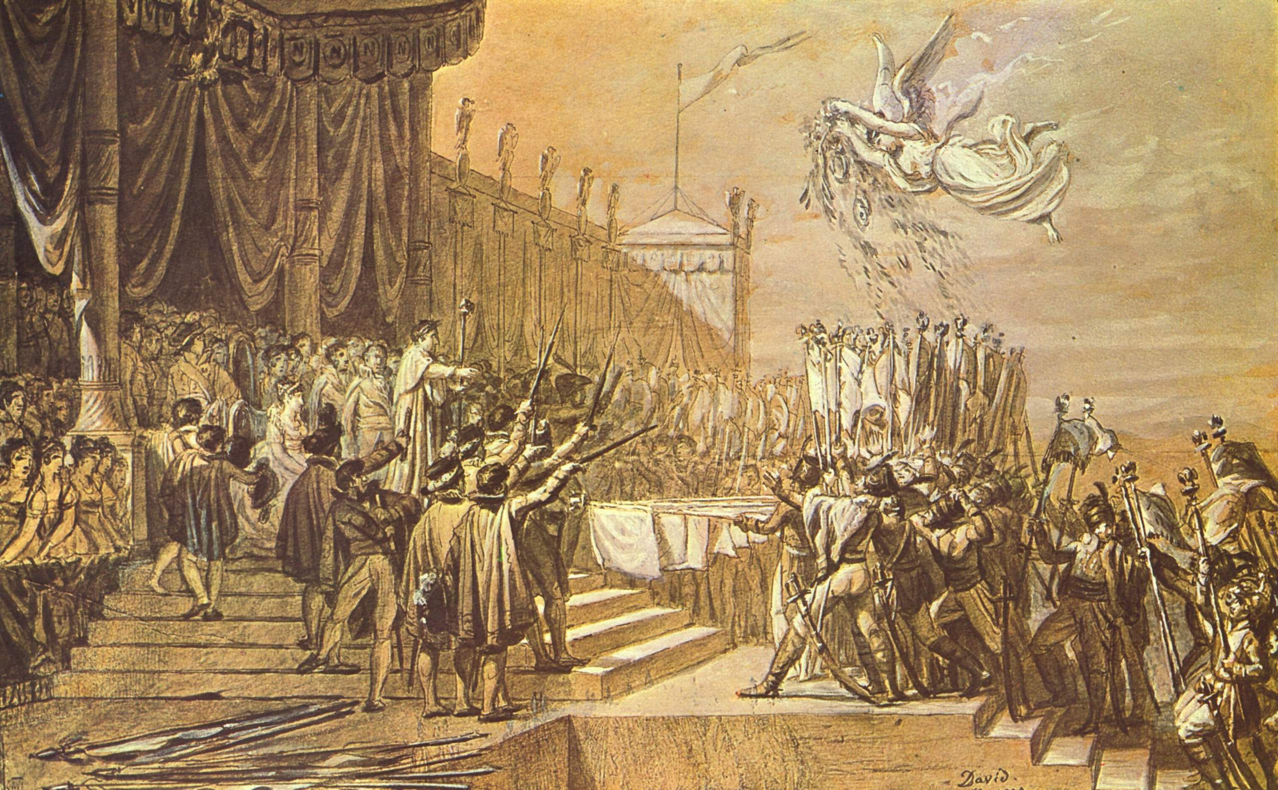 Раздача орлов, Жак - Луи Давид