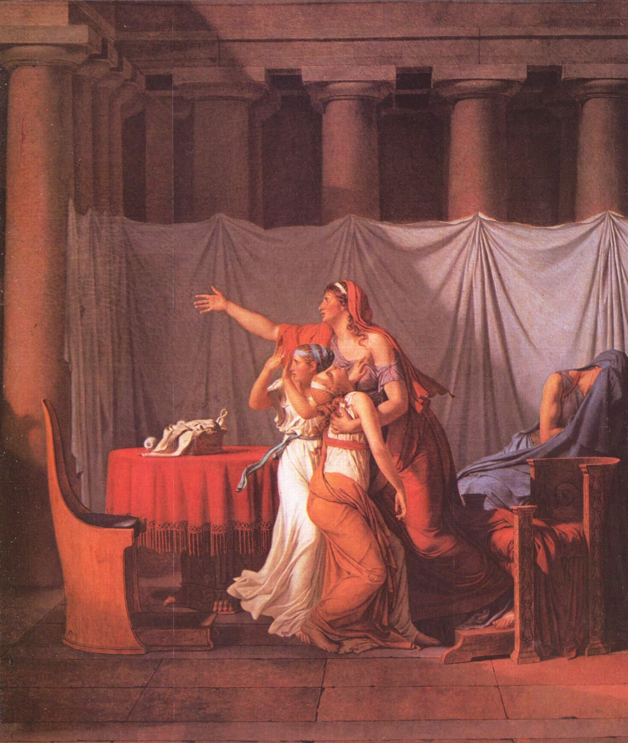 Ликторы приносят Бруту тела его сыновей, Жак - Луи Давид