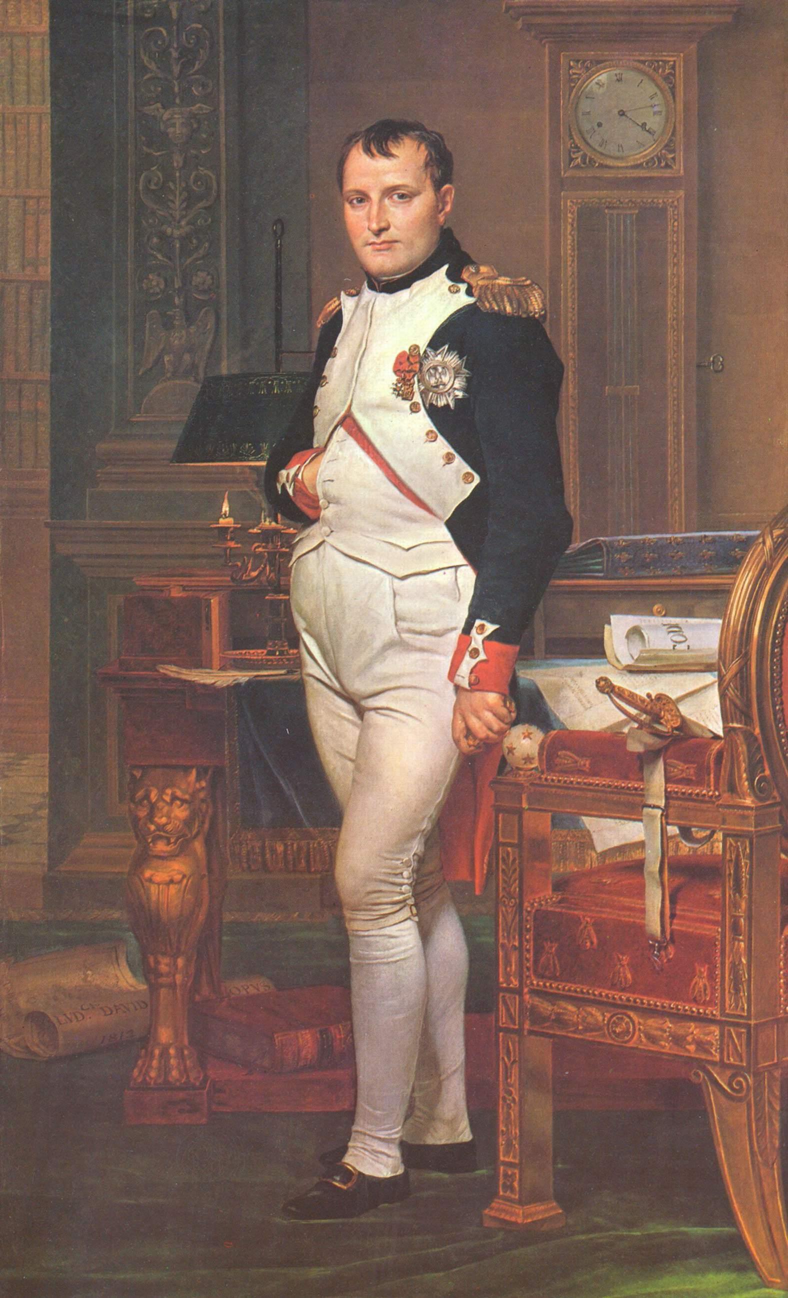 Портрет Наполеона в его рабочем кабинете, Жак - Луи Давид