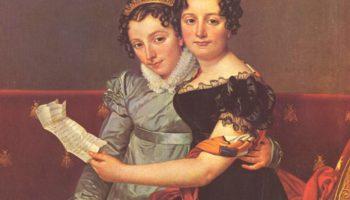 Сестры Зинаида и Шарлотта Бонапарт. Фрагмент