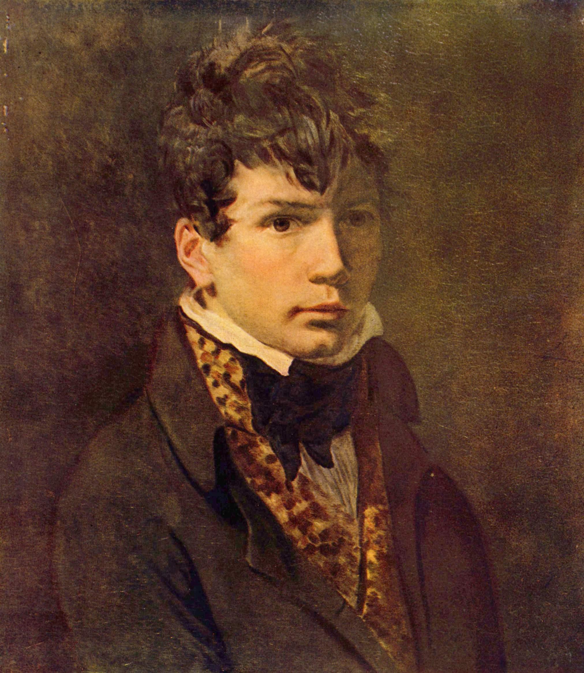 Портрет художника Энгра, Жак - Луи Давид