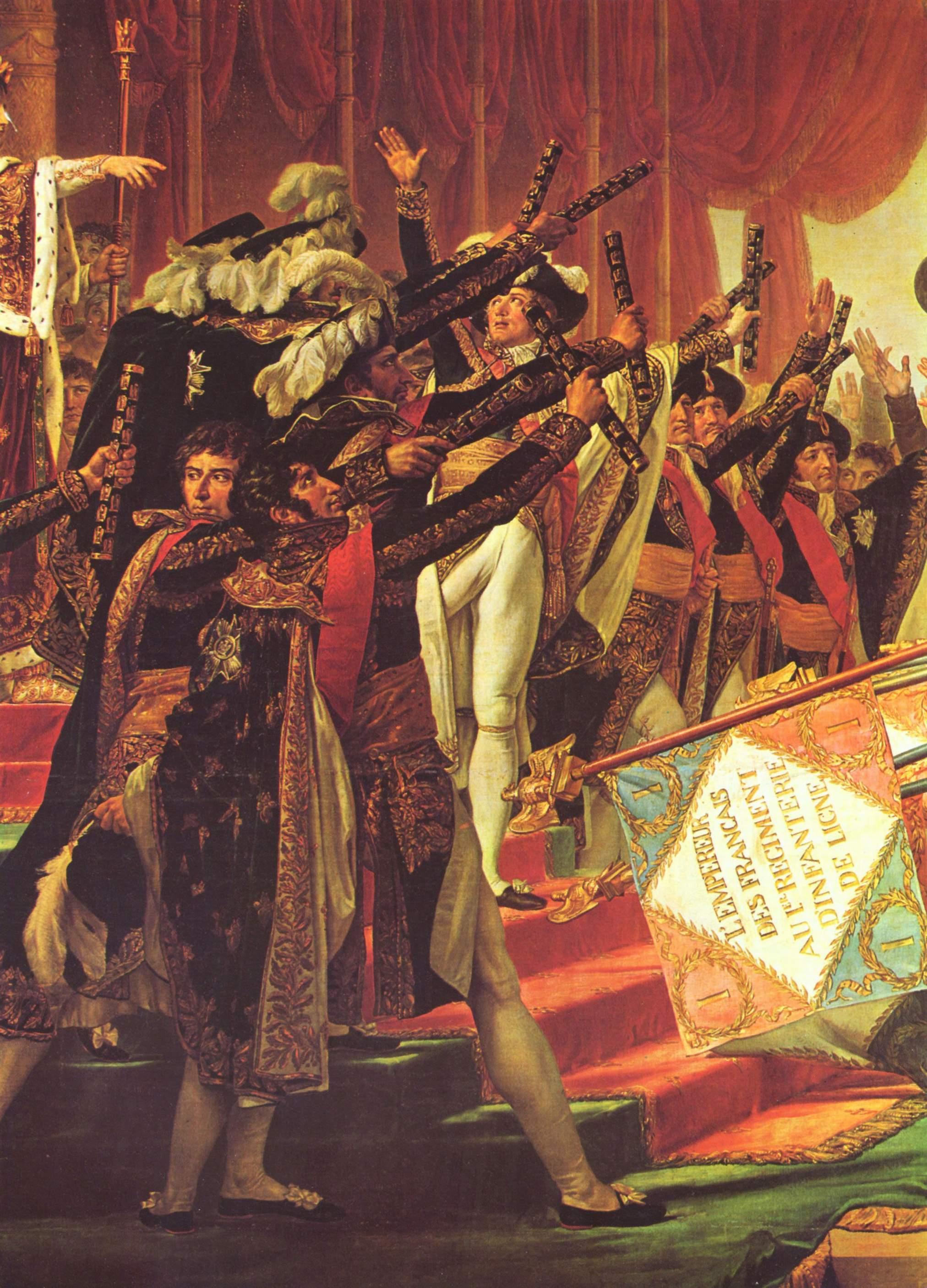 Присяга войска императору на Марсовом поле в Париже 5 декабря 1801. Деталь, Жак - Луи Давид