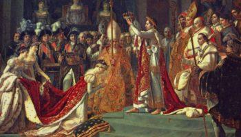 Коронация императора Наполеона I и коронация императрицы Жозефины в Нотр-Дам де Пари, 2 декабря 1804 года. Фрагмент