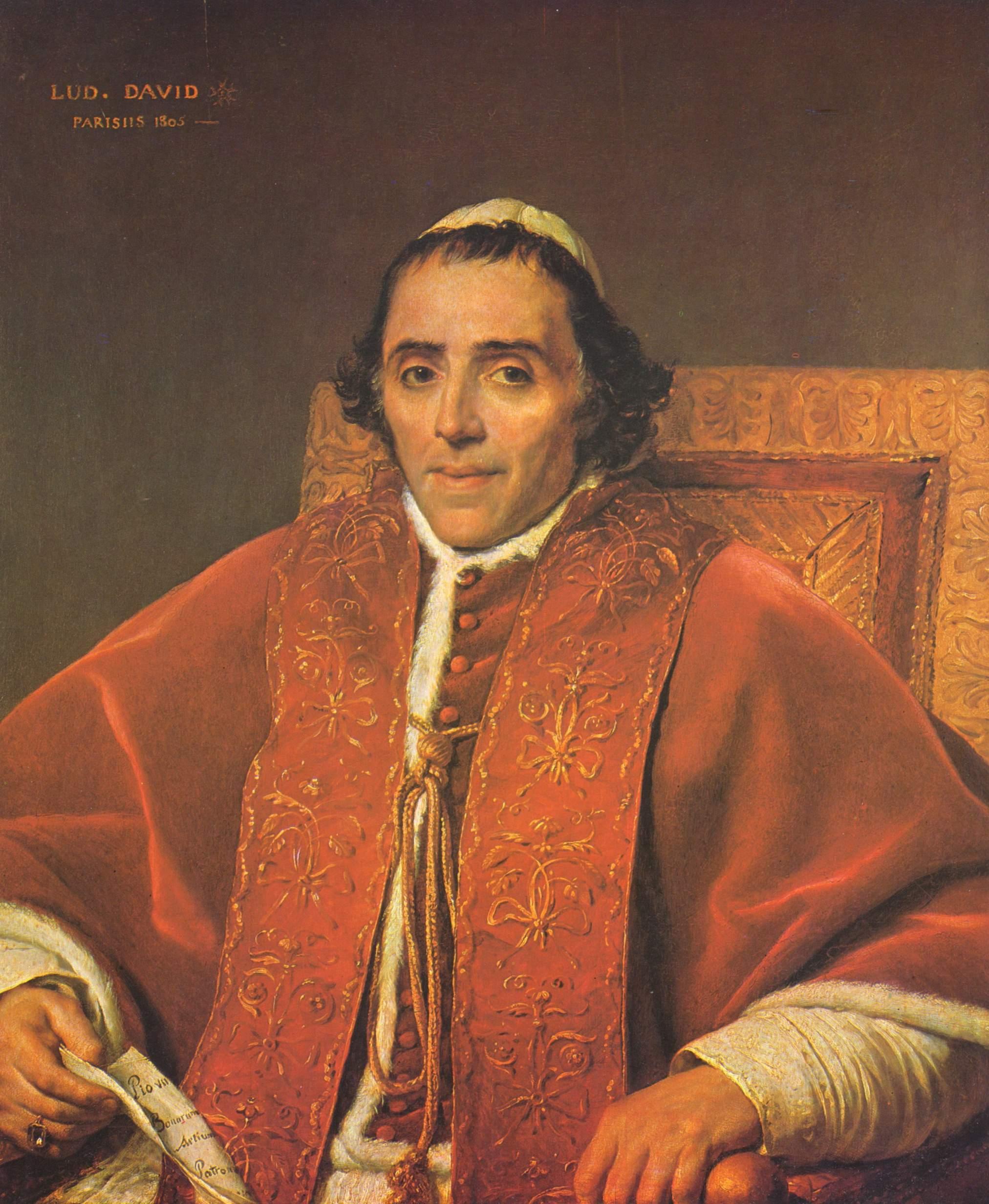 Портрет папы Пия VII, Жак - Луи Давид