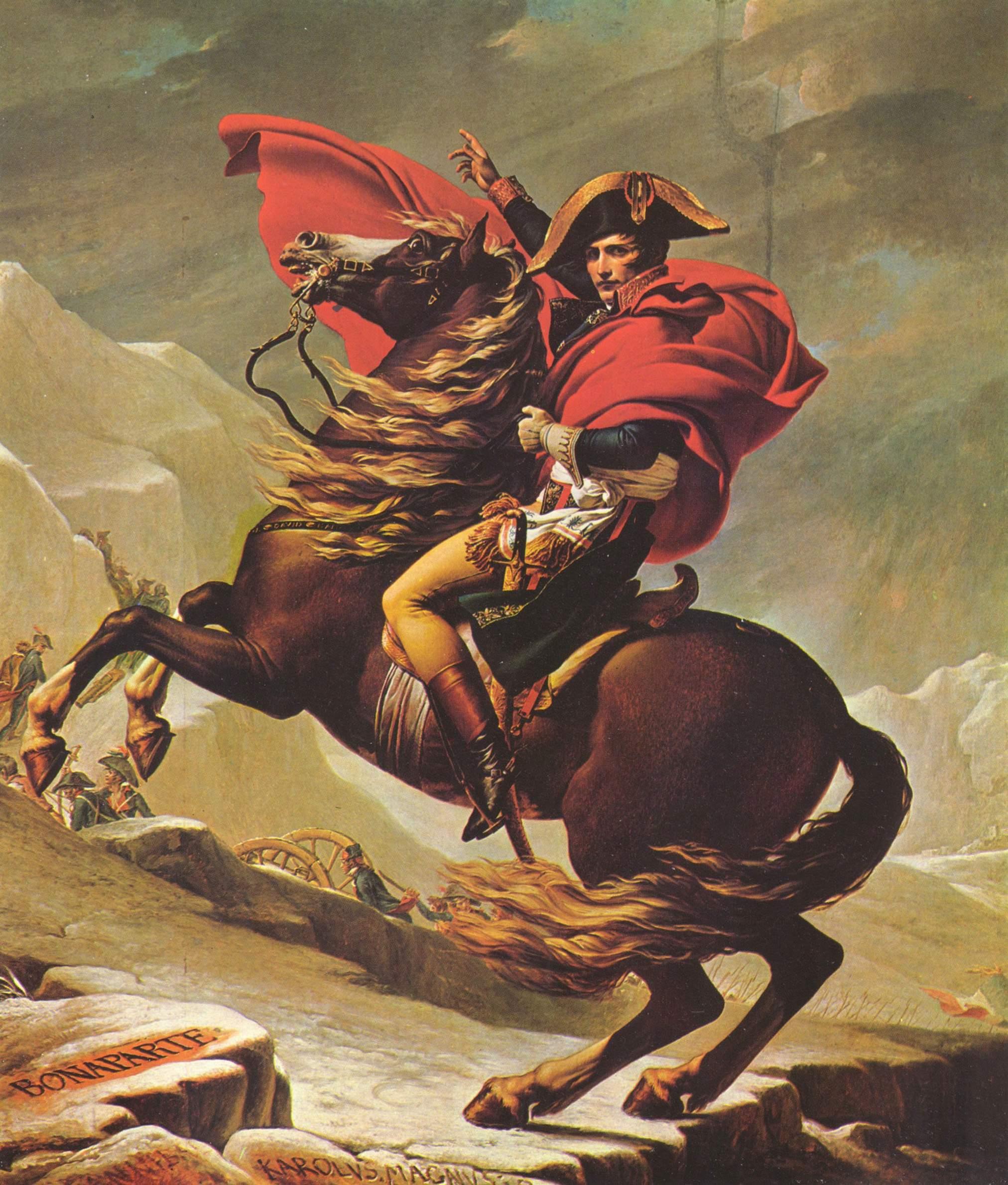 Переход Наполеона через Альпы, Жак - Луи Давид