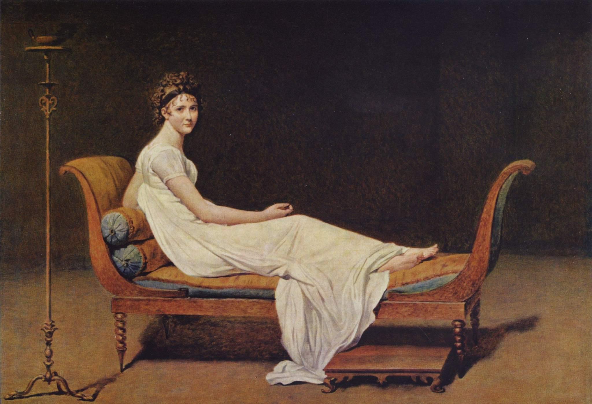 Портрет мадам Рекамье, Жак - Луи Давид
