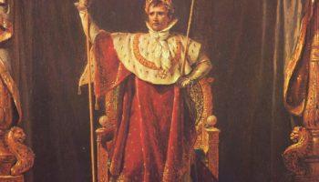 Портрет Наполеона в облачении императора