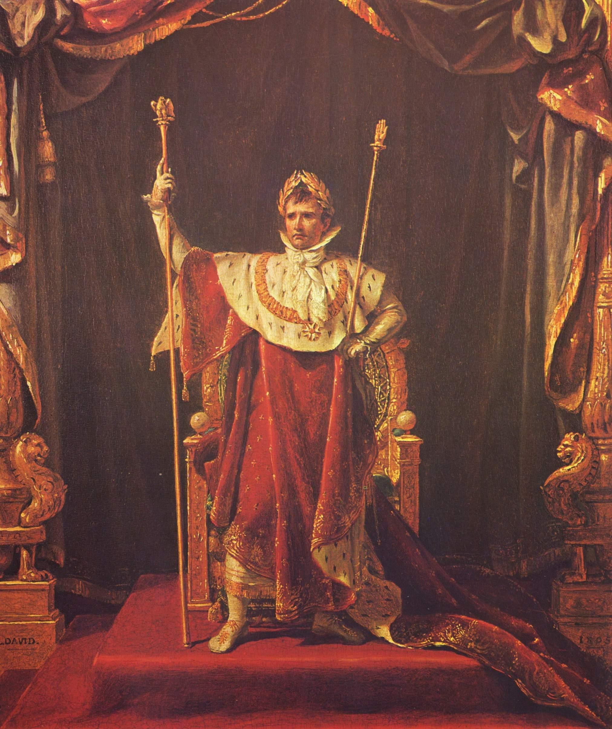 Наполеон в облачении императора, Жак - Луи Давид