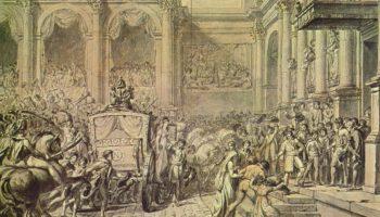 Прибытие Наполеона в ратушу. Эскиз