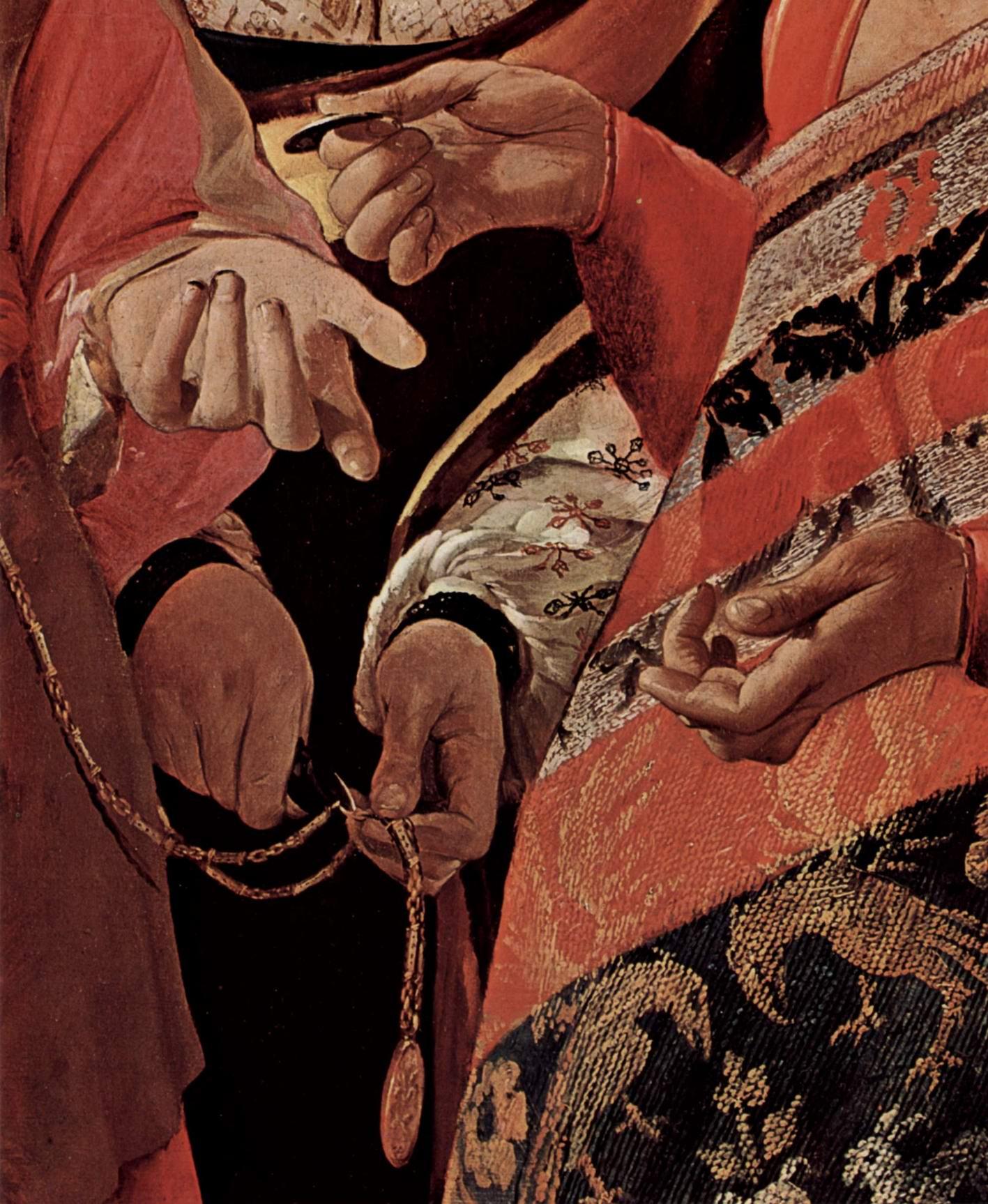Хорошая судьба (У гадалки). Фрагмент, Жорж Де Ла Тур