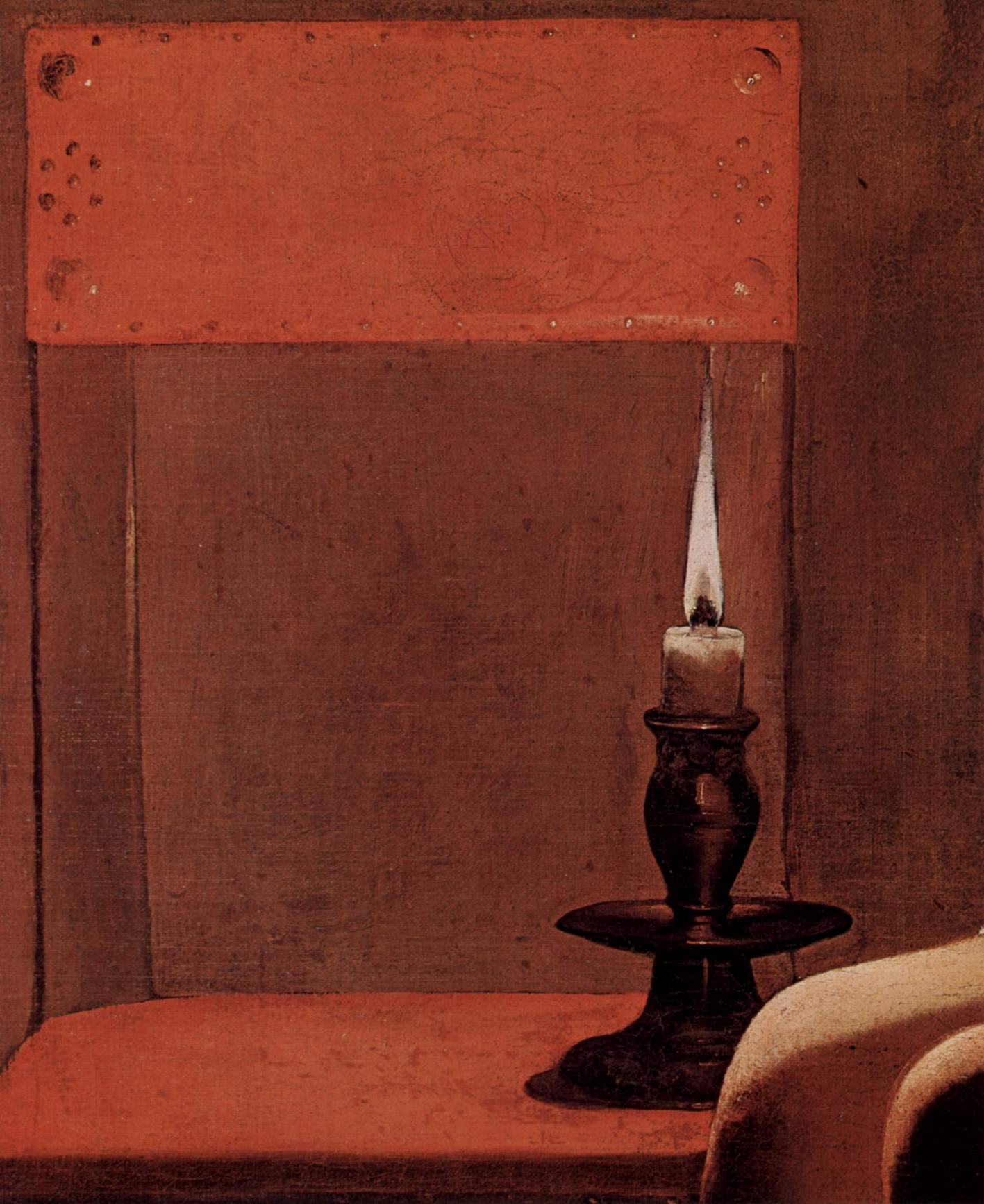 Женщина, ищущая блох. Фрагмент, Жорж Де Ла Тур